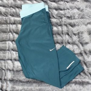 Nike Relay Capri Running Tights Dark Teal